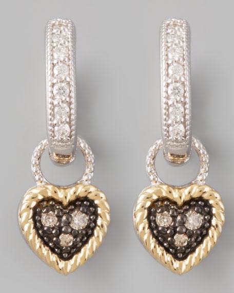 Diamond Heart Earring Charms