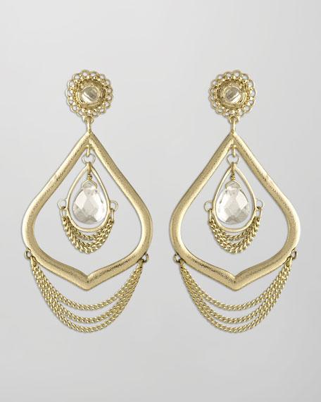 Julia Earrings, Crystal