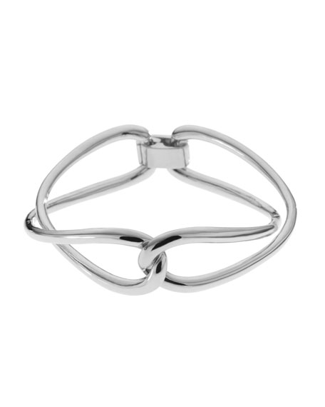 Love Twist Bracelet, Silver Color