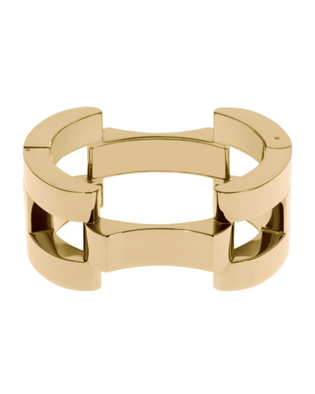 Square Link Bracelet, Golden