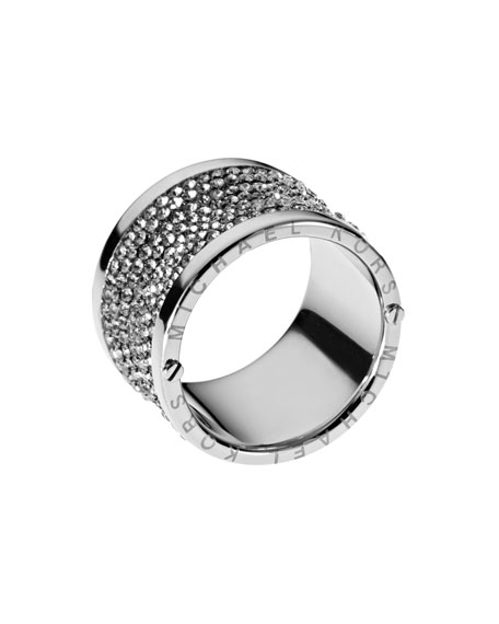 Pave Barrel Ring
