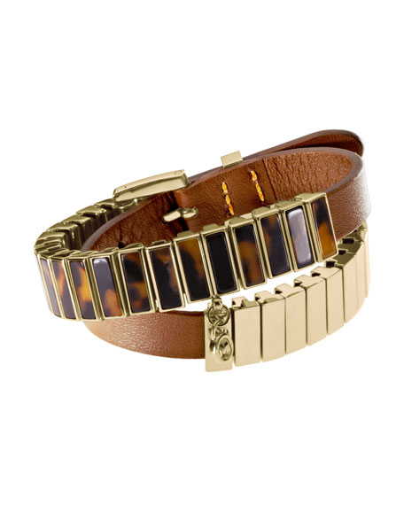 Double-Wrap Bracelet, Tortoise