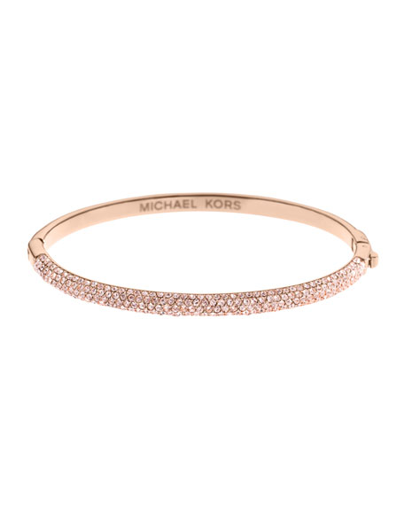 Pave Hinge Bracelet, Rose Golden