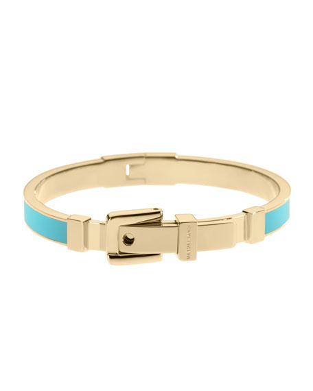 Buckle Enamel Bracelet, Turquoise