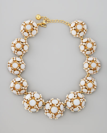 collar statement necklace, white