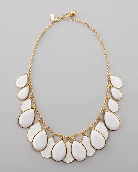 teardrop necklace, white
