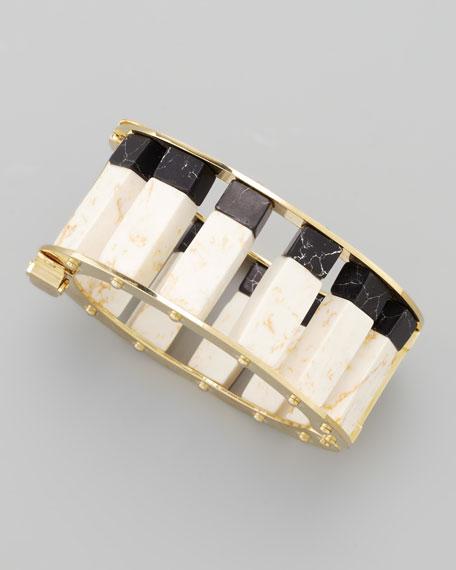 Two-Tone Cube-Column Bracelet