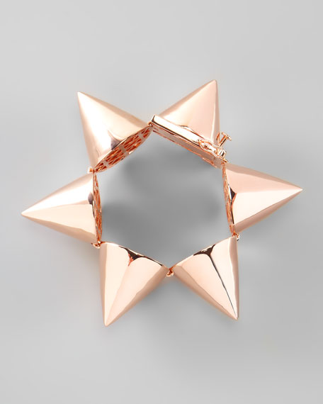 Extra-Large Cone Bracelet, Rose Gold