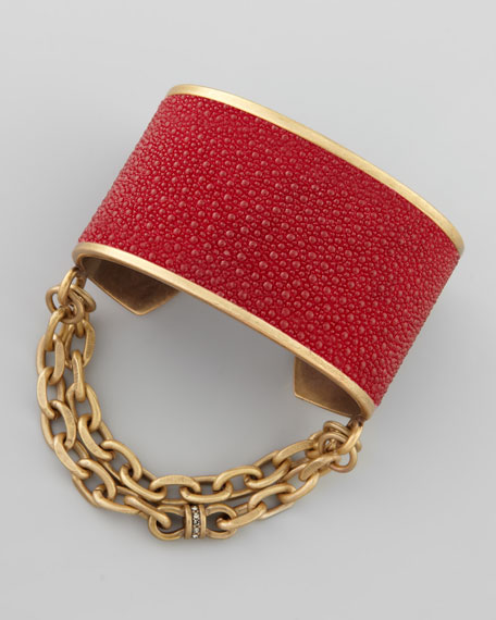 Natalie Stingray Cuff, Red