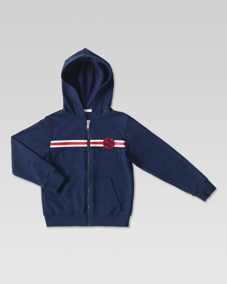 Web-Print Hooded Sweatshirt