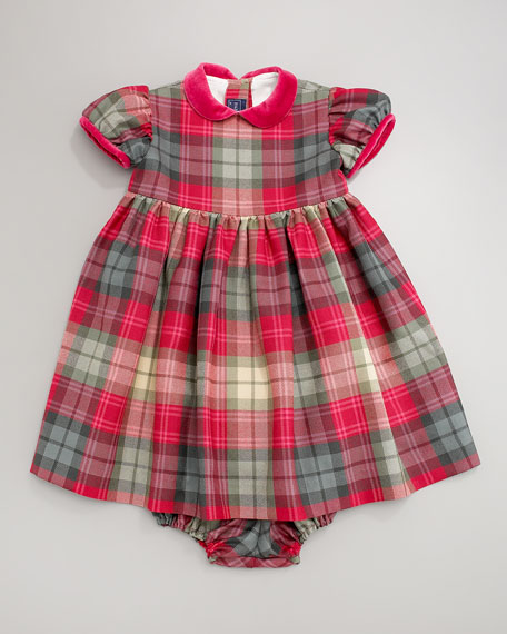 Plaid Dress & Bloomers, Hot Pink