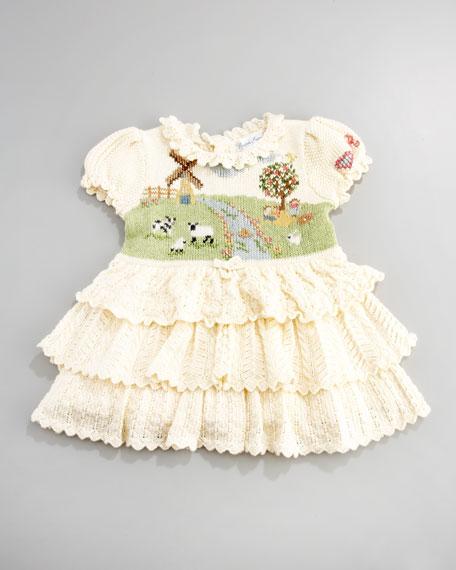 Farm-Print Ruffle Dress