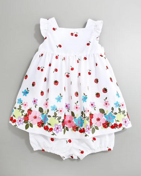 Mixed-Print Dress, Sizes 3-9 Months