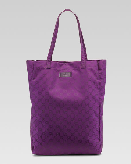 GG Brights Easy Tote Bag with Pouch, Violet/Grape Royal