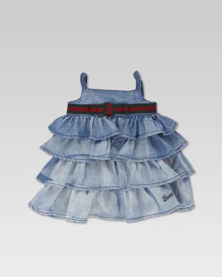 Bleach Degrade Denim Dress