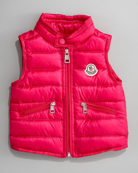 Long Season Packable Vest, Hot Pink