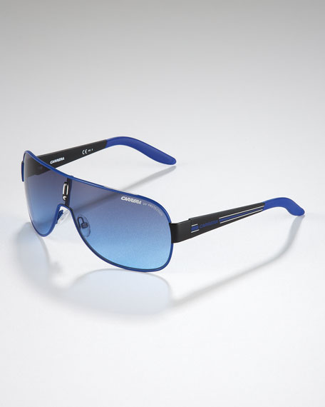 Children's Classic Carrerino Shield Sunglasses, Blue/Black