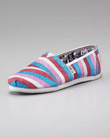 Striped Glitter Shoe, Youth