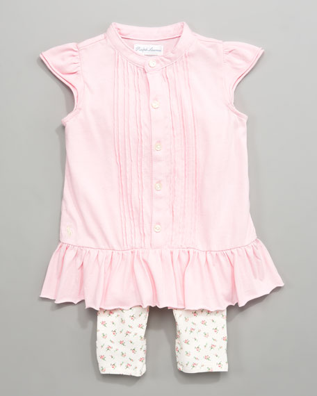 Pintuck Tunic with Leggings, 3-9 Months