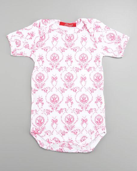 Corset-Pattern Short-Sleeve Bodysuit