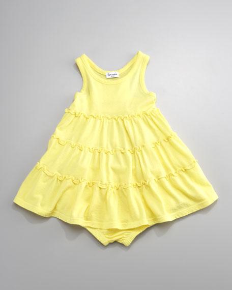 Three-Tier Ruffle Dress, Lemoncello