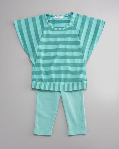 Striped Top and Legging Set, Infant