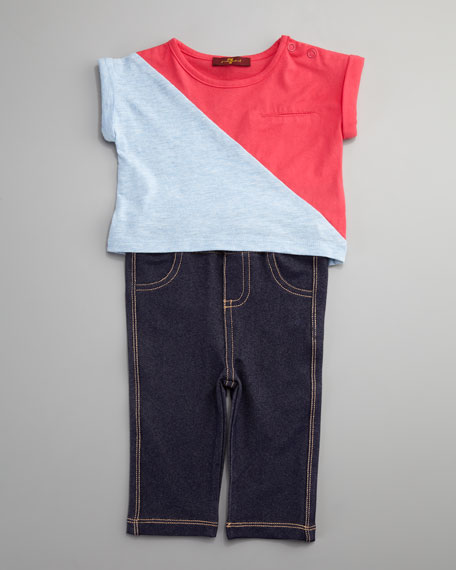 Colorblock Tee and Leggings Set, 0-9 Months