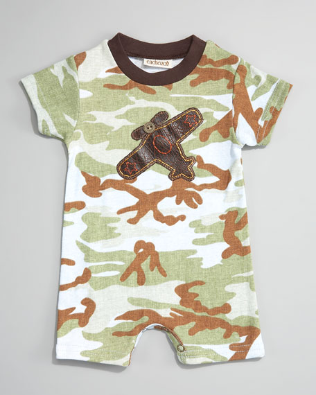Camo Airplane Short Playsuit