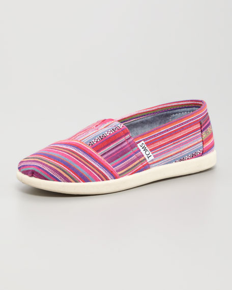 Madras-Stripe Canvas Shoe, Youth