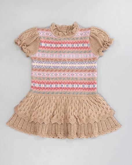 Fair Isle Ruffle Dress