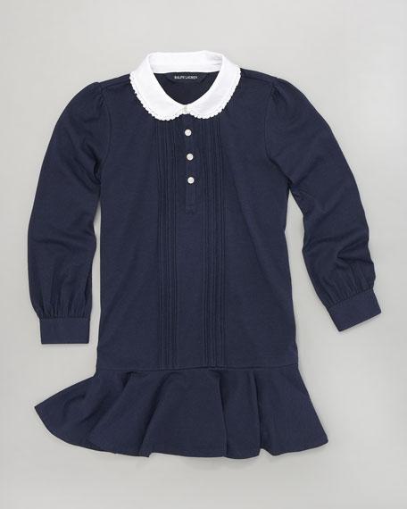 Drop-Waist Pintuck Dress