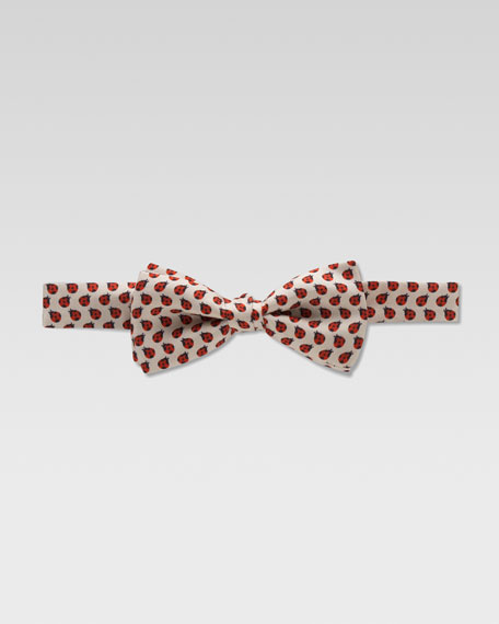 Zoo Ladybug Silk Bow Tie