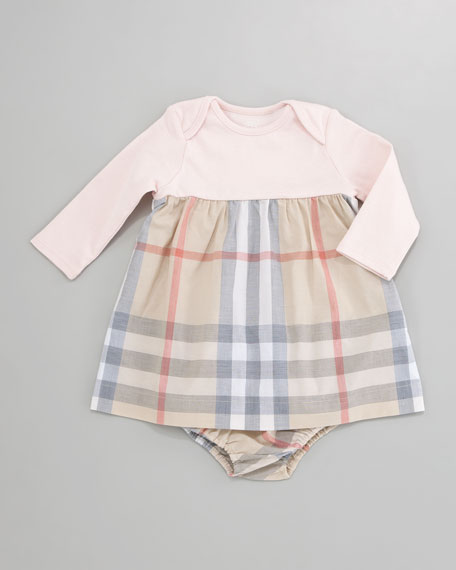 Cherry Check-Skirt Dress