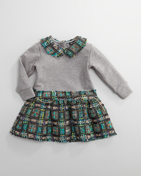 Tweed-Trim Dress