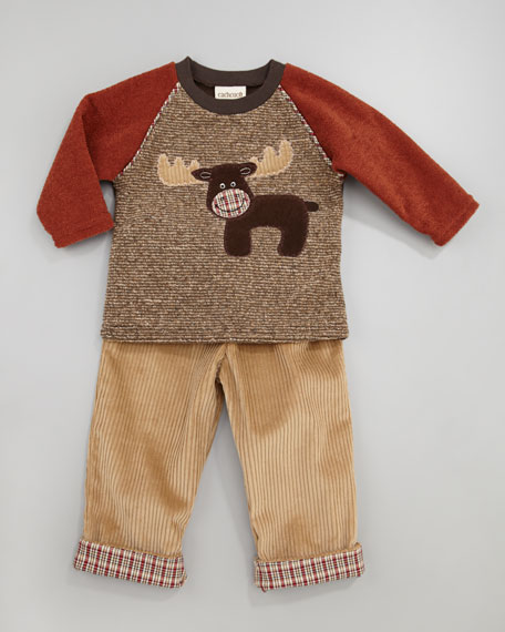 Cozy Camper Moose Top & Pants Set