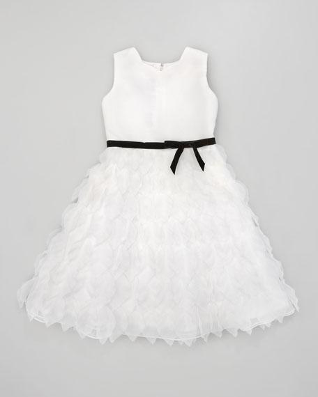 Organza Petal Tea-Length Dress