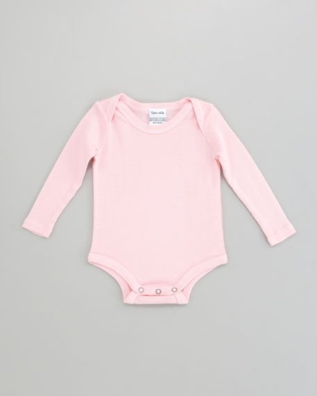 Snug-Fit Playsuit, Pink Ribbon