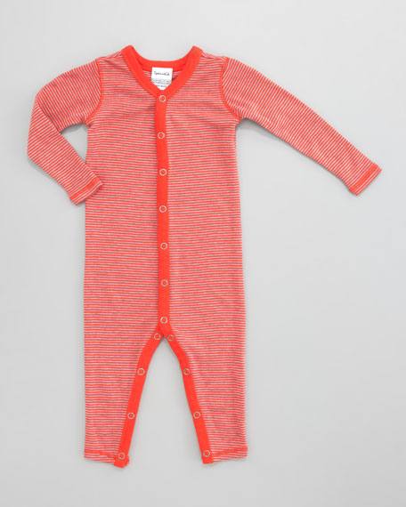 Striped Snug-Fit Playsuit, Fireside