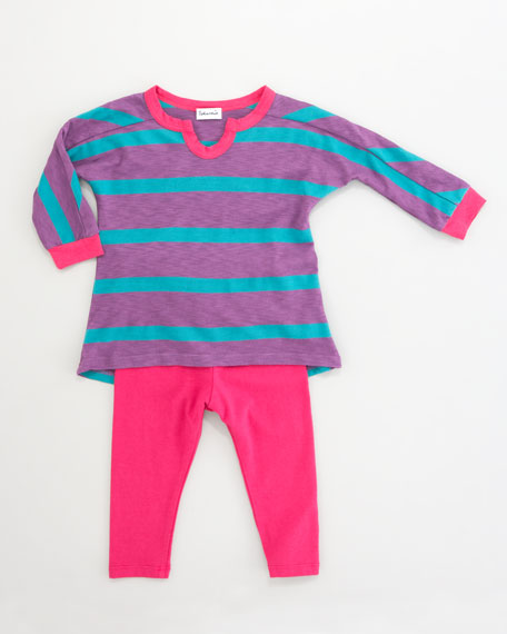 Seville Striped Jersey Tunic & Leggings Set, 3-24 Months