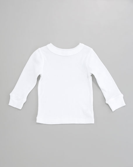 Long-Sleeve Tee, White