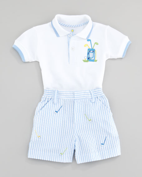 Miniature Golf Knit Two Piece Set Shirt and Short