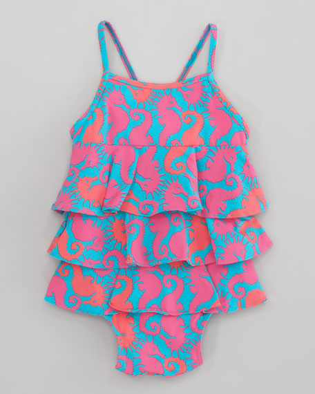 Snorkie Hold Your Horse One-Piece Swimsuit
