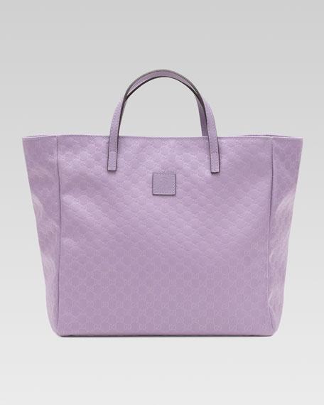 Girls' Micro Guccissima Tote Bag, Glicine