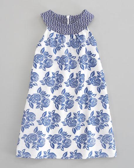 Sleeveless Floral Dress, Sizes 5-8