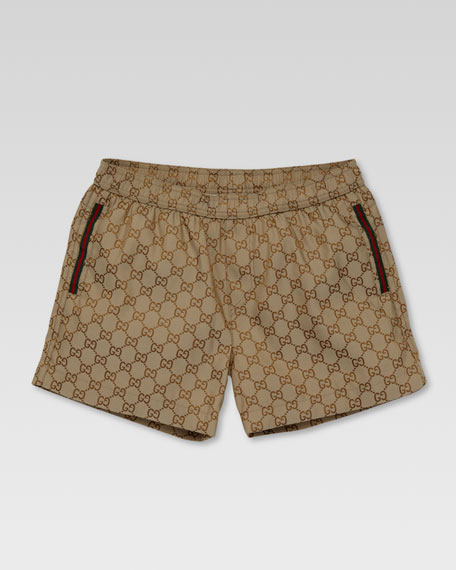GG Swim Shorts, Beige/Ebony