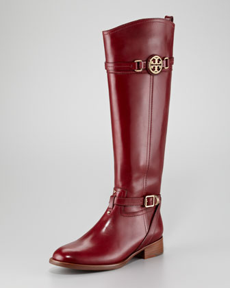 Calista Logo Riding Boot - Neiman Marcus