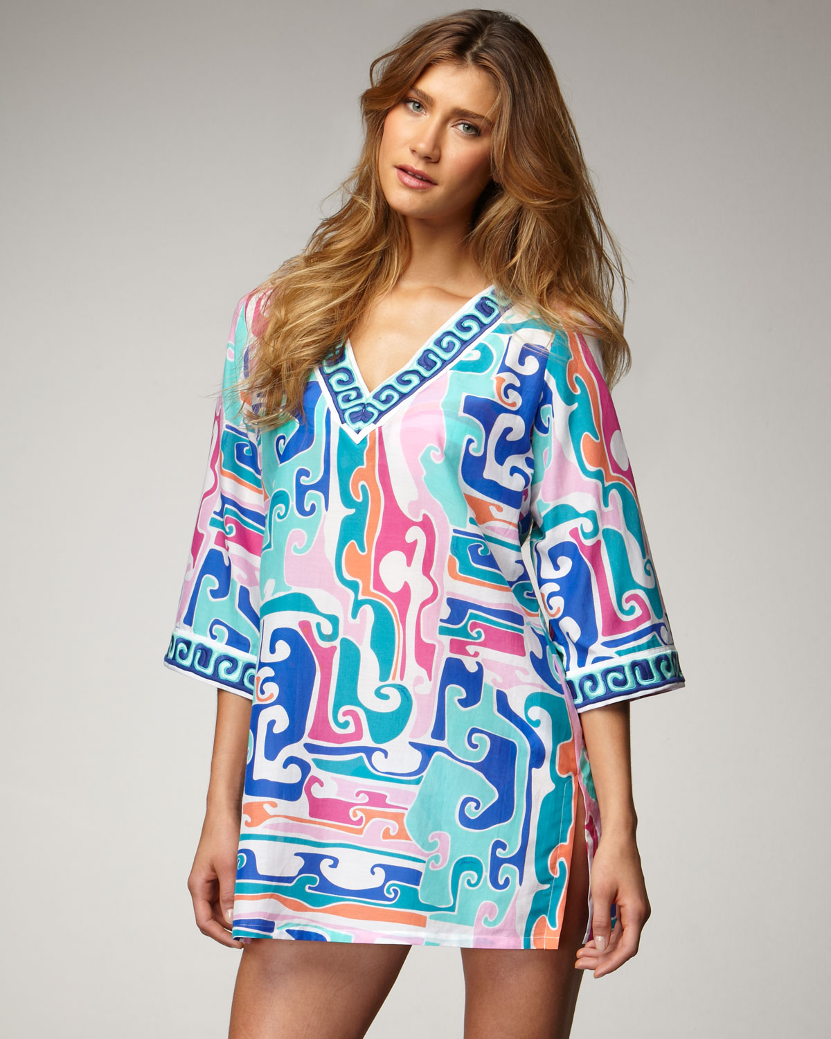 5369dc953a191 Trina Turk Mirage Tunic Coverup on PopScreen