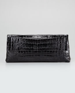 Nancy Gonzalez Crocodile Flap-Front Clutch Bag