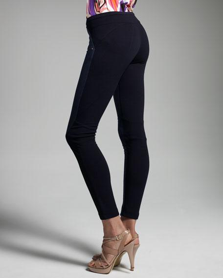 Mixed Fabric Leggings