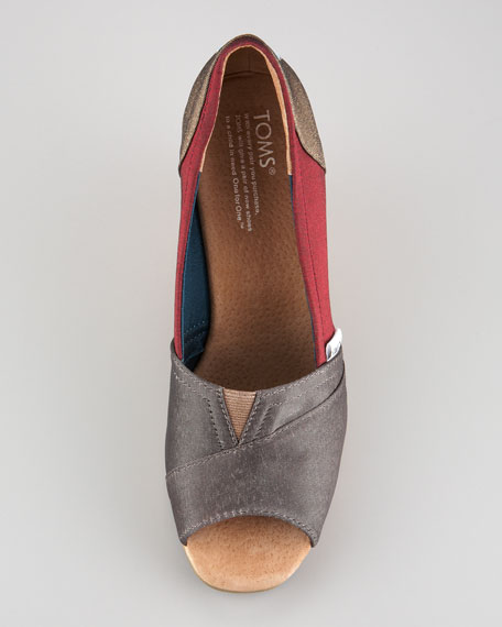 Vassar Colorblock Cork Wedge